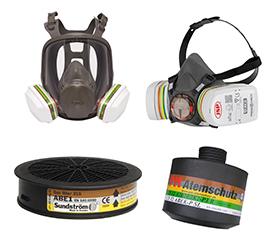 Gas- und Kombinationsfilter für Halb- und Vollmasken