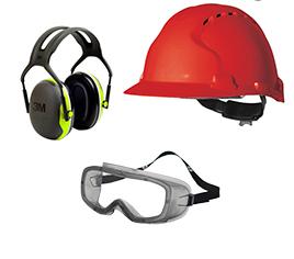 Kopf-, Augen und Gehörschutz